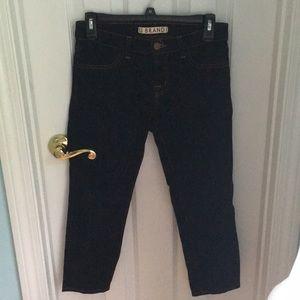 J Brand Dark Denim Cropped Jeans